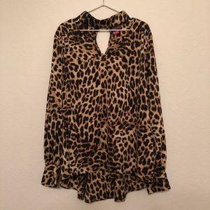 Vince Camuto Leopard Print Blouse